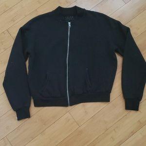 Tyler Jacobs Distressed zip up sweatshirt m/l